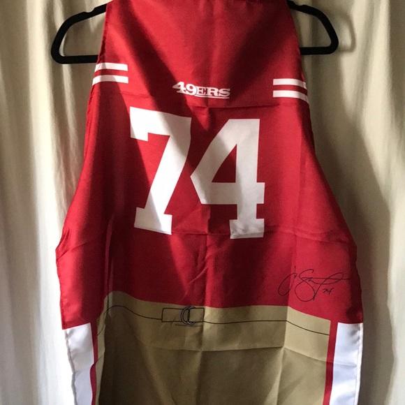 d0b25c39 San Francisco 49ers Apron Joe Staley #74 11/26/17